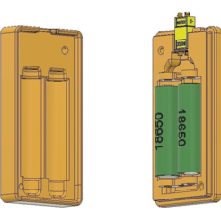 Download free 3D print files Li Ion 18650 2S battery case [OBJ file], timofteadrianandrei