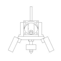 M8-1.jpg Télécharger fichier STL MK8 Hotend + Fan block • Objet pour imprimante 3D, iamcuralase