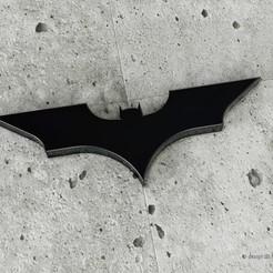 Download STL Batman Logo Piece - Wall decoration, hernandezbarreraleonardo