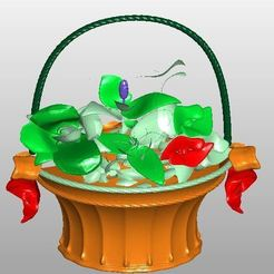 Download free 3D printing designs Blumenkörbchen, rudthiele