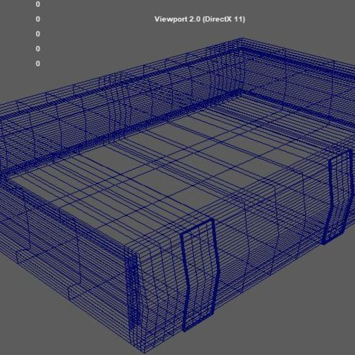 Wireframe.JPG Download STL file Old Book • Template to 3D print, Mokun