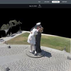 98048913_2614489568788734_508381857054720000_o.jpg Télécharger fichier GCODE gratuit Statue du baiser de reddition inconditionnelle • Objet imprimable en 3D, NitroBlast