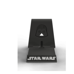 STARW FRENTE.png Download free STL file Cell phone support / Phone stand • 3D print template, brunogelosi