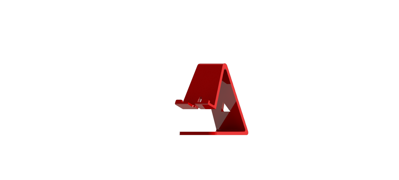 rojo iso frente.png Download free STL file Cell phone support / Phone stand • 3D print template, brunogelosi