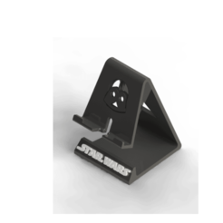 STARW ISO.png Download free STL file Cell Phone Support/ Phone stand Darth Vader • 3D print object, brunogelosi