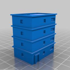 Apartment24x35x40.png Download free STL file 6mm buildings • 3D print design, PaleAle