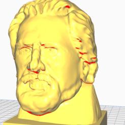 leskov.png Télécharger fichier STL le buste de nikolai leskov • Plan pour impression 3D, novato666notb