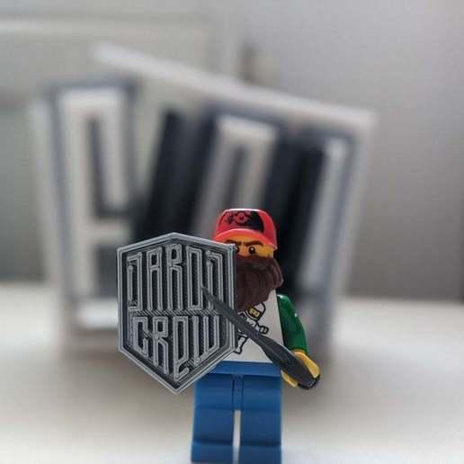 Download free STL Daron Crew Lego Shield, smndhm