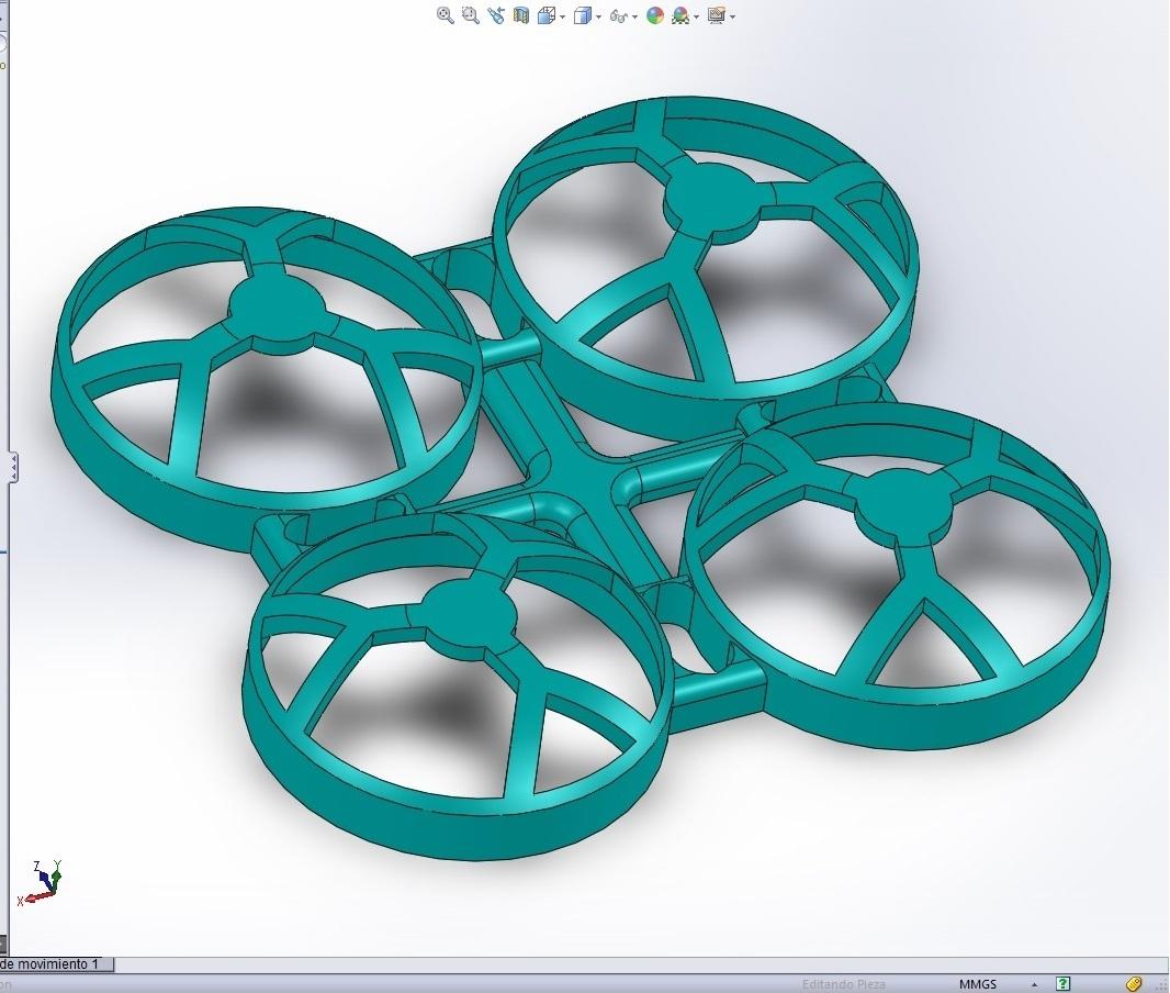 frame solid.jpg Download STL file quadcopter drone frame • 3D printable model, wings3d