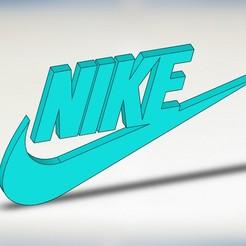 NIKE LOGO.JPG Télécharger fichier STL Logo et porte-clés Nike • Design imprimable en 3D, wings3d