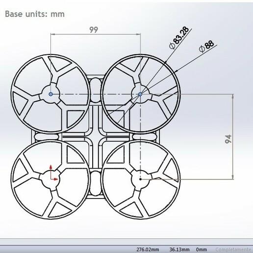 measures.jpg Download STL file quadcopter drone frame • 3D printable model, wings3d