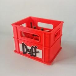 20201129_171802-01.jpeg Télécharger fichier STL Caisse de bière Duff + logo • Objet à imprimer en 3D, wings3d