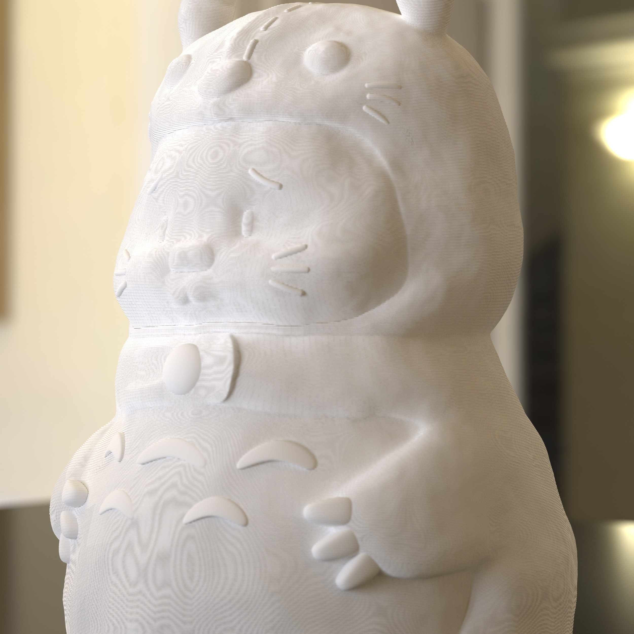 03.jpg Download STL file Rabbit Totoro / Conejo Totoro • 3D printer template, Larmaries