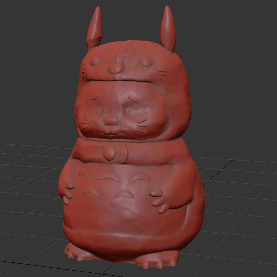 05.jpg Download STL file Rabbit Totoro / Conejo Totoro • 3D printer template, Larmaries