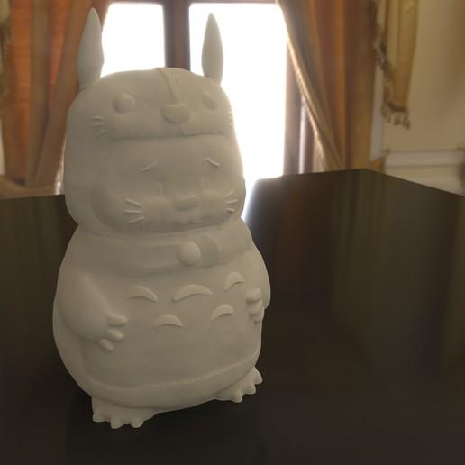 01.jpg Download STL file Rabbit Totoro / Conejo Totoro • 3D printer template, Larmaries