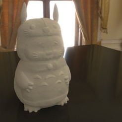 01.jpg Download STL file Rabbit Totoro / Conejo Totoro • 3D printer template, Larmaries