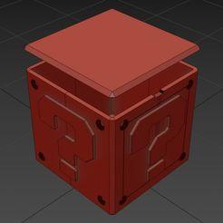 caja-02.jpg Download STL file Mario Bros / Mario Bros question box • 3D printer object, Larmaries