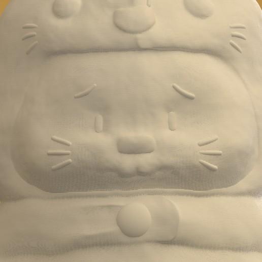 04.jpg Download STL file Rabbit Totoro / Conejo Totoro • 3D printer template, Larmaries