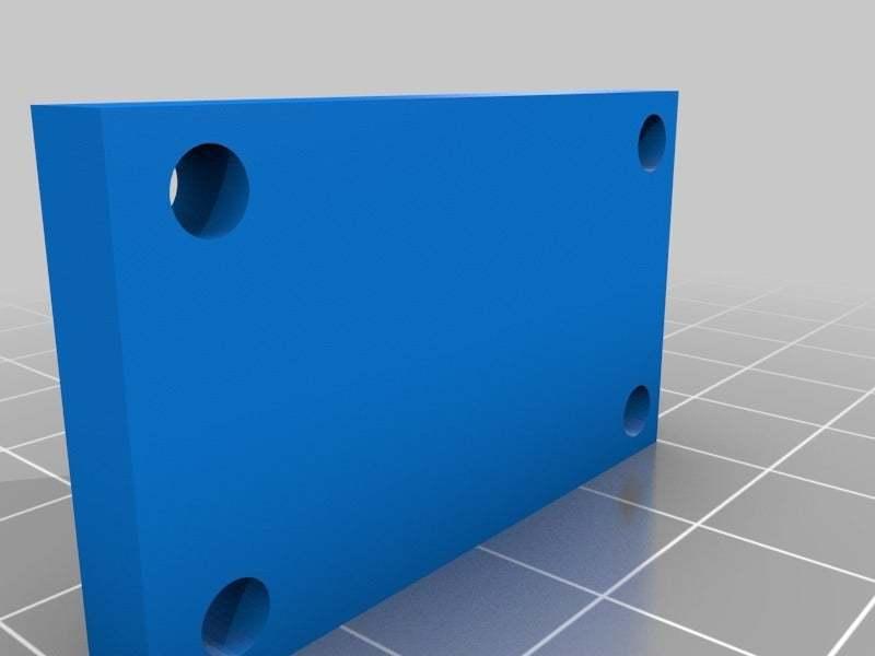 YidlerBase.jpg Download free STL file Y Axis Belt Tenstioner for 606ZZ bearing easy removing for Prusa i3 Hephestos • 3D print design, Alejoo