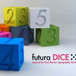 Futura_Dice.jpg Download free STL file futura Dice • 3D printable design, Alejoo