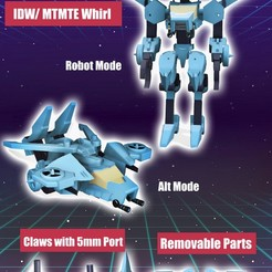 Whirl Promo.jpg Download STL file Transformers IDW/ MTMTE Whirl  • 3D printable object, mmshightail