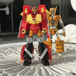IMG_4881.jpg Download free STL file Transformers Cyberverse Hot Rod to MTMTE Rodimus Conversion Kit • Object to 3D print, mmshightail