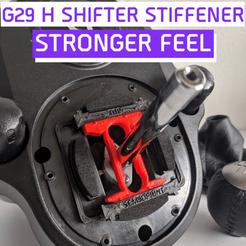 G29.png Télécharger fichier STL H Shifter Stiffener G29/G920 - Modélisation de la sensation plus forte pour Logitech G29/G920 - Sensation améliorée ! • Plan à imprimer en 3D, Sem3DPrint