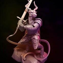 Elken_final.jpg Download free STL file An Elken Defends His Land • 3D print template, Davicao