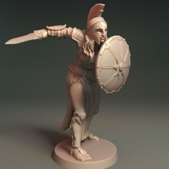Myrine01.jpg Download OBJ file Myrine - Daugther of Athena • 3D printing design, Davicao