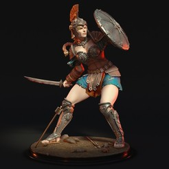 Warrior01.jpg Télécharger fichier STL Guerrier héllénique • Objet à imprimer en 3D, Davicao