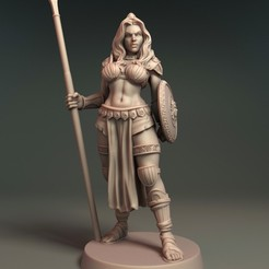 Warrior A.jpg Download free STL file Aglaia - Daugther of Athena • Template to 3D print, Davicao
