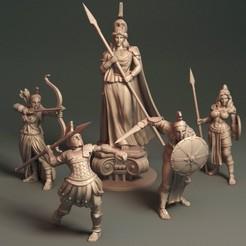 Daughters of Athena.jpg Download STL file Daughters of Athena - Bundle • 3D printer object, Davicao