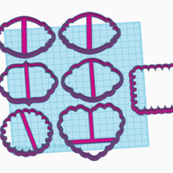 marcos.png Download STL file Frames - posters cookies • 3D print model, 3dnekochea