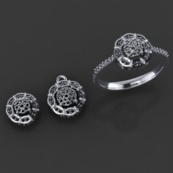 1.jpg Download free STL file Jewelry Set S5 • 3D printable object, hamedblackgold8