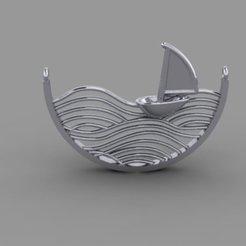 Download free 3D printing designs Boat Pendant 1, hamedblackgold8