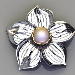 Download free STL file Pearl flower medal 01 • 3D printable model, hamedblackgold8