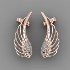 14.jpg Download free STL file Wing Earrings B13 • 3D printing model, hamedblackgold8