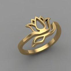 Download free STL file Tulip Ring Br48 • 3D printable object, hamedblackgold8