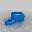 Download free SCAD file Kossel Delta Tower Endcap with alternative foot attachment • 3D printing design, david_jenkins
