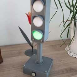 Download free STL file Traffic Light with leds (28cm height) • 3D printable model, epidemik