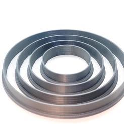 Imprimir en 3D Cookie Cutter/ Cortante para Galletas - Circle Set x4, Pipipa