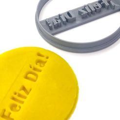Descargar modelos 3D Cookie cutter / Cortante de galletas FELIZ DIA , Pipipa