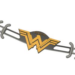 mask strap wonderwoman.png Download STL file Mask strap Wonderwoman COVID-19 • Object to 3D print, Yohann-3Dprinter