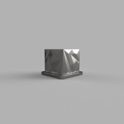 Download free 3D printing designs Polygon Flower Pot with Coaster, dahoooo