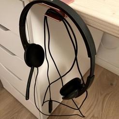 IMG_0660.jpg Download free STL file Headphone / Headset Holder • Object to 3D print, dahoooo