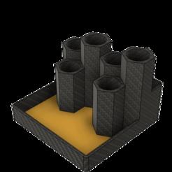 Hexagon Pen Holder v11.png Télécharger fichier STL gratuit Porte-stylo hexagonal / organiseur de bureau • Design pour impression 3D, dahoooo