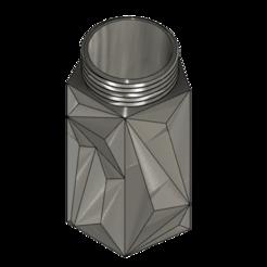 Polygon Capsule v14.png Download free STL file Polygon Capsule with Screw Cap • 3D print design, dahoooo