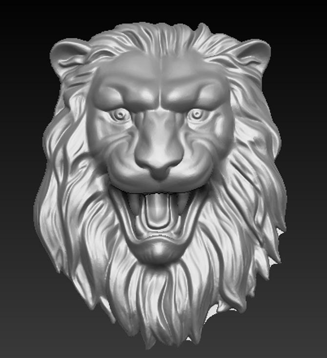 Lion_Relief_01.jpg Download free OBJ file Lion Relief 3D Model • 3D printable template, DavidG7