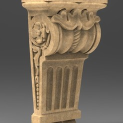 Download free 3D printer model Architectural Decorative Corbel 2 3D Model, DavidG7