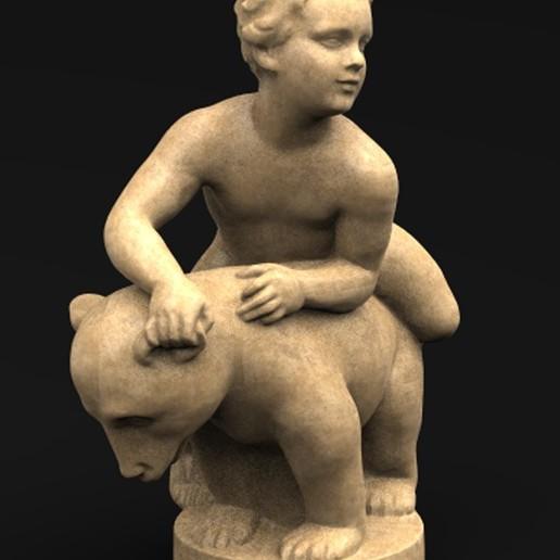 Télécharger fichier OBJ gratuit Modèle 3D de l'ours et du garçon • Plan à imprimer en 3D, DavidG7